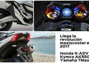 Honda X-ADV, Kymco AK550 y Yamaha TMax: los scooters que te harán soñar en 2017