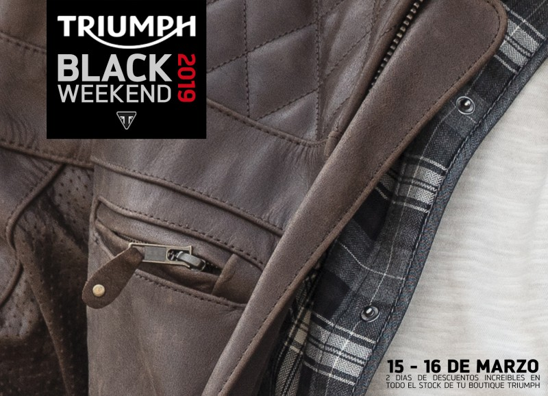 triumph black weekend 2019 noticia