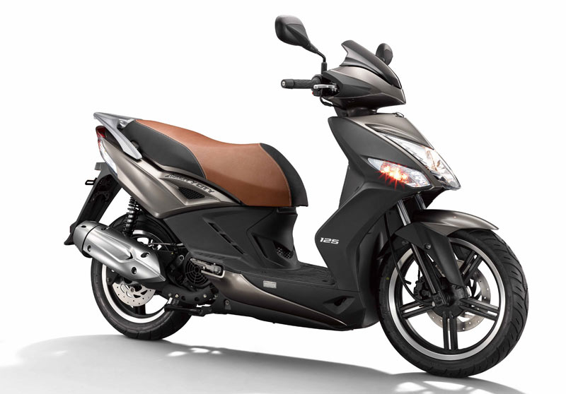 kymco agility city 125 2020 marron lateral
