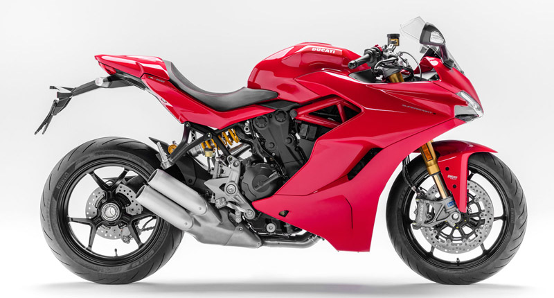 ducati supersport s 2019 rojo perfil