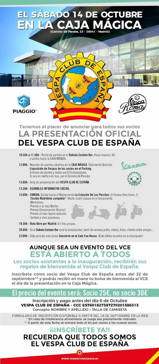 vespa club espana nave noticia cartel