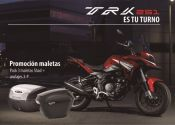 La Benelli TRK 251, con maletas de regalo