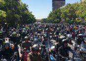 Manifestación en Madrid por la defensa de la moto