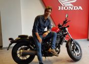 Carlos Baute estrena Honda Rebel en Ikono Madrid