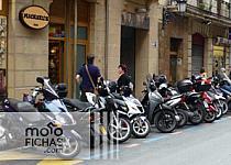 San Sebastián planea que las motos paguen por aparcar