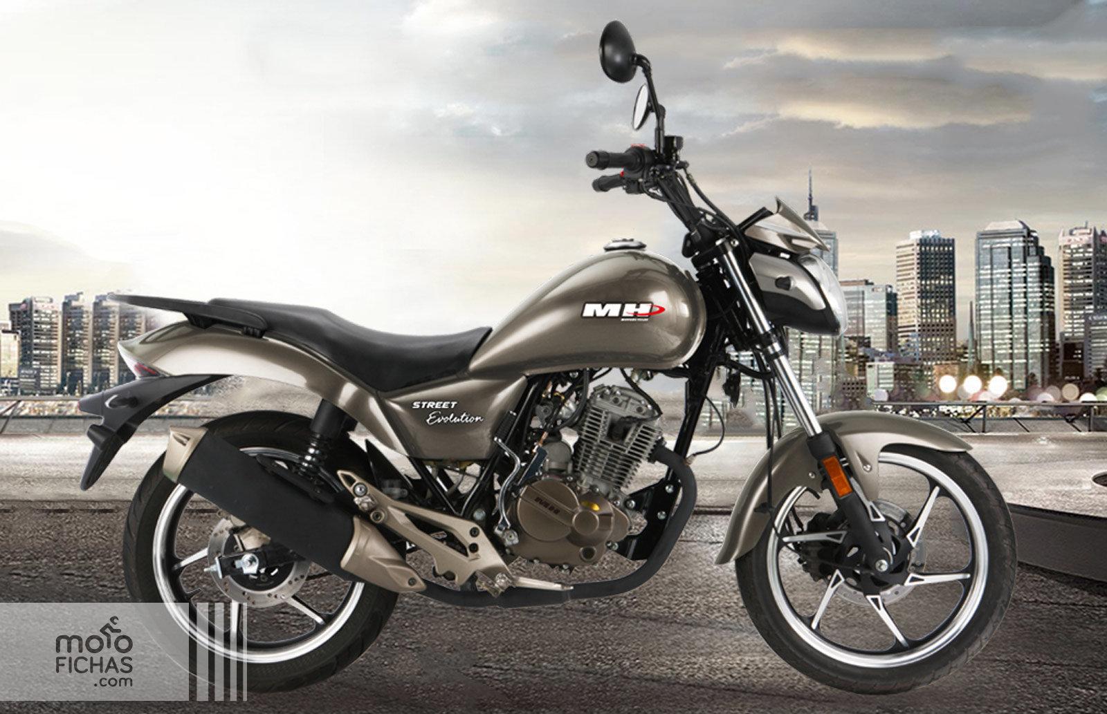 MH Motorcycles Street Evolution 125 2017-2019 precio ficha