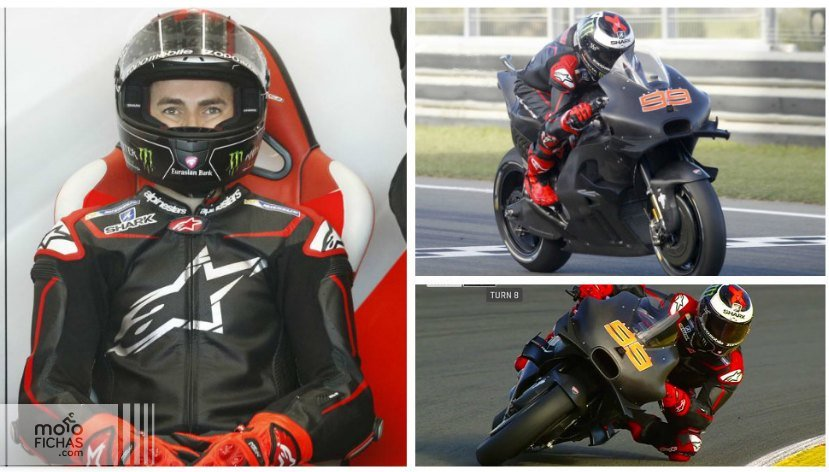 jorge lorenzo ducati tests cheste collage